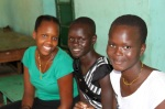 Friends of the Juba Orphanage Volunteer Sienna Wedderburn with the girls